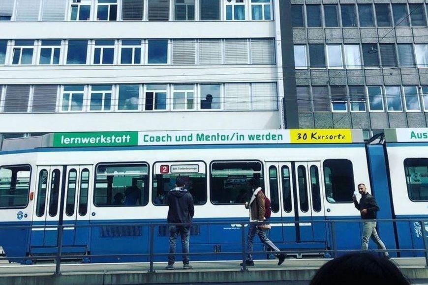 Das Lernwerkstatt-Tram entdeckt von Carmen Eicher.