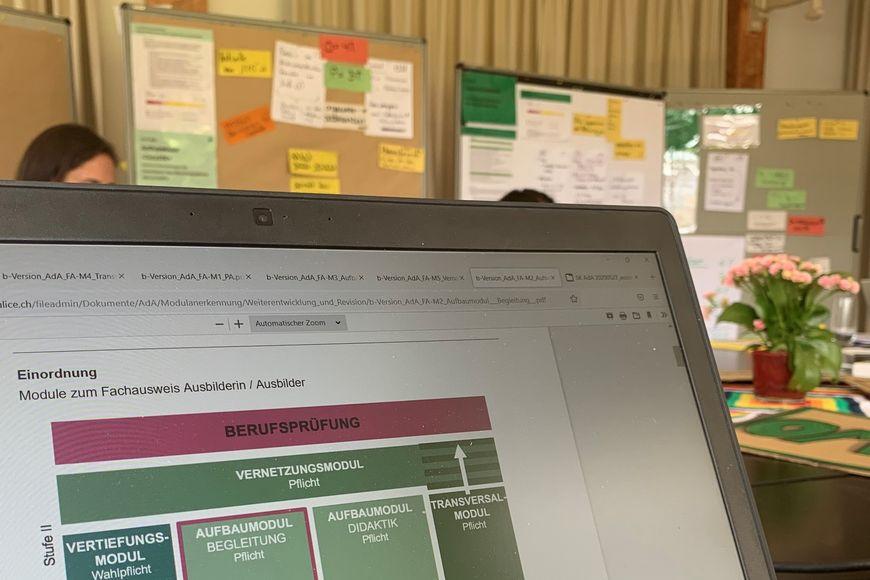 Aktuell werden pro Modul die detaillierten Lehrpläne und Kursunterlagen entwickelt.