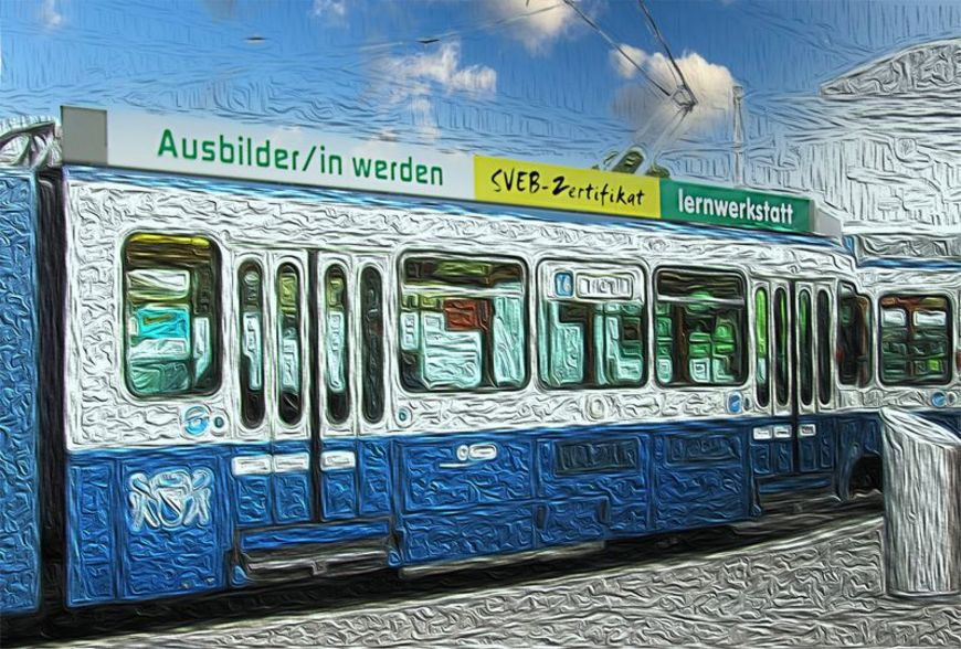 Das Lernwerkstatt-Tram entdeckt von Anna Meier.