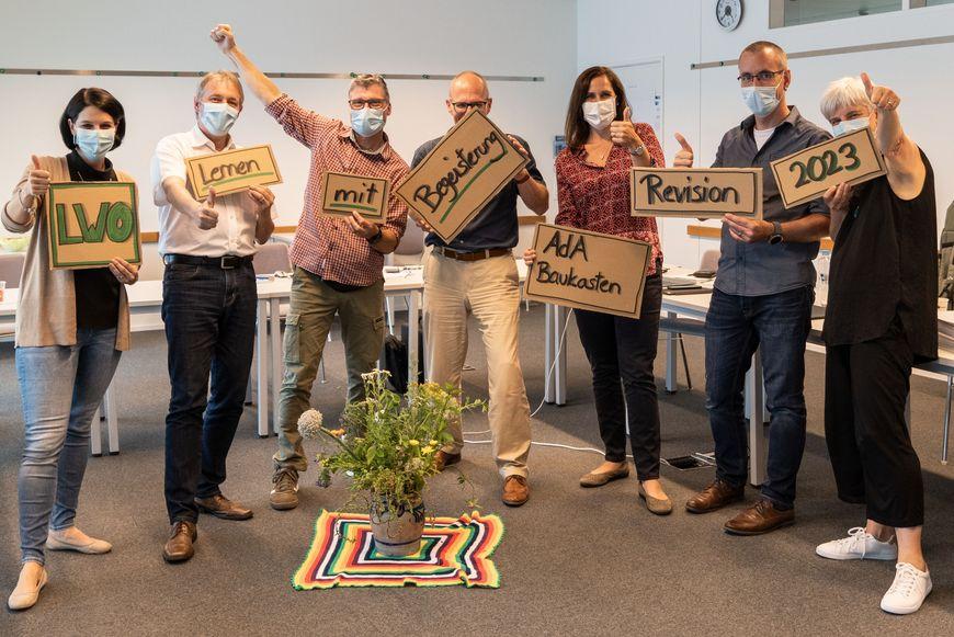 Das Revisions-Kernteam der Lernwerkstatt.