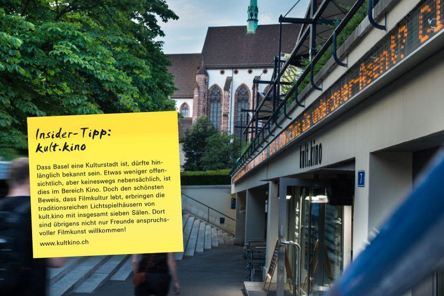 Dass Basel eine Kulturstadt ist, dürfte hinlänglich bekannt sein. Etwas weniger offensichtlich, aber keineswegs nebensächlich, ist dies im Bereich Kino. Doch den schönsten Beweis, dass Filmkultur lebt, erbringen die traditionsreichen Lichtspielhäusern von kult.kino mit insgesamt sieben Sälen. Dort sind übrigens nicht nur Freunde anspruchsvoller Filmkunst willkommen!