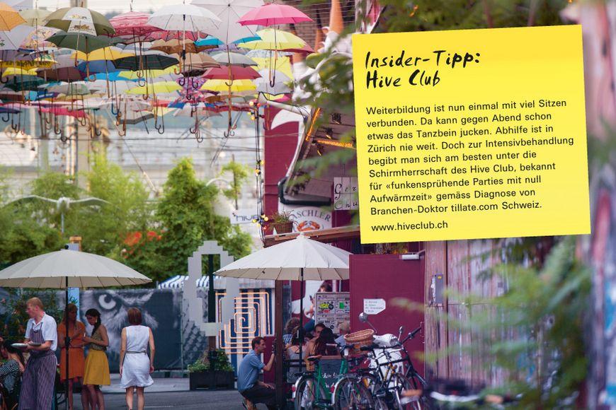 Insider-Tipp SVEB-Zertifikat Zürich: Hive Club – Weiterbildung ist nun einmal mit viel Sitzen verbunden. Da kann gegen Abend schon etwas das Tanzbein jucken. Abhilfe ist in Zürich nie weit. Doch zur Intensivbehandlung begibt man sich am besten unter die Schirmherrschaft des Hive Club, bekannt für «funkensprühende Parties mit null Aufwärmzeit» gemäss Diagnose von Branchen-Doktor tillate.com Schweiz.